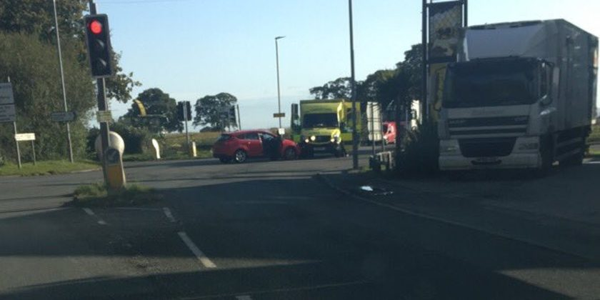 """Emergency services called to RTC between """"car and ambulance"""" in Llay"""