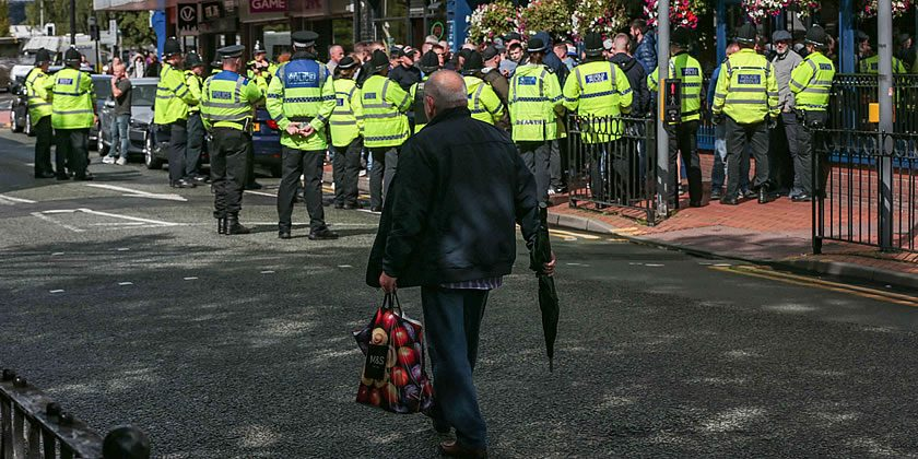 Video: Policing Non-League football - Wrexham v Stockport ...